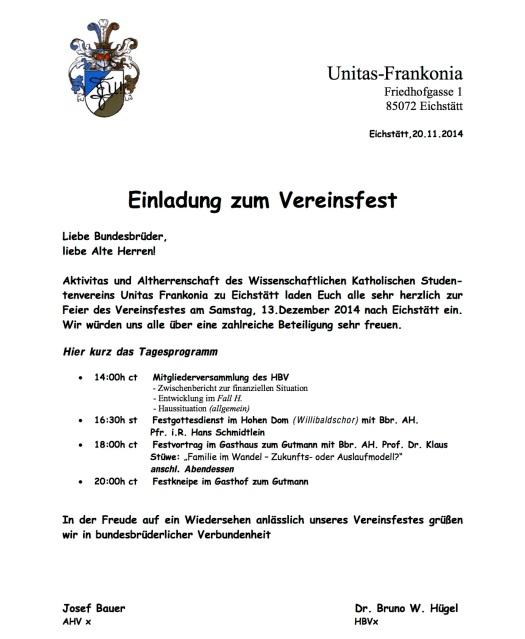 Einl. Vereinsfest 2014-15