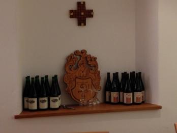 Der Wein steht bereit